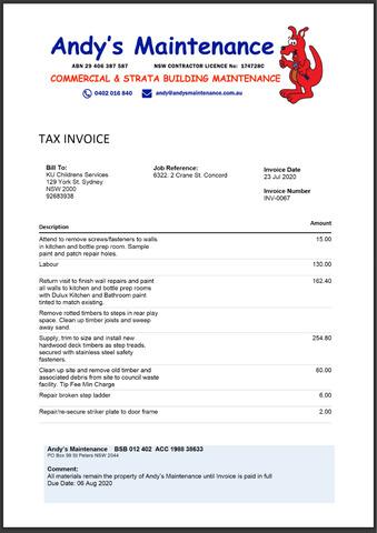 Customising Docx Invoice Templates